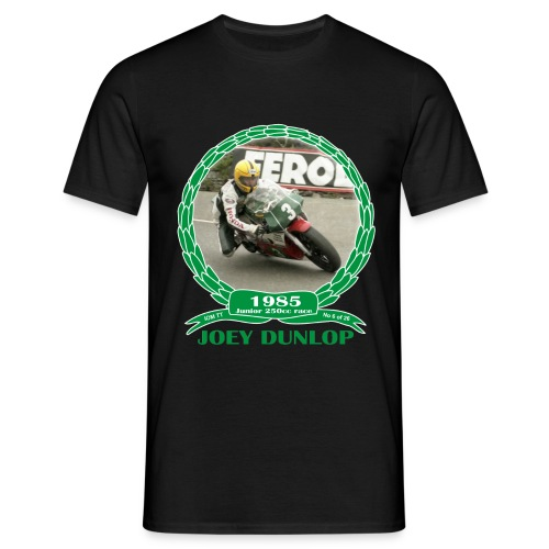 No 6 Joey Dunlop TT 1985 Junior 250cc - Men's T-Shirt