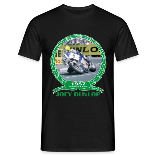 No 9 Joey Dunlop TT 1987 Formula 1 - Men's T-Shirt