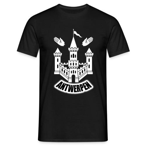 T-shirt | Antwerpen/WIT - Mannen T-shirt