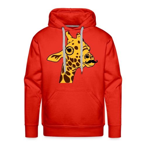 Hipster Giraffe Sweat-Shirt - Sweat-shirt à capuche Premium pour hommes