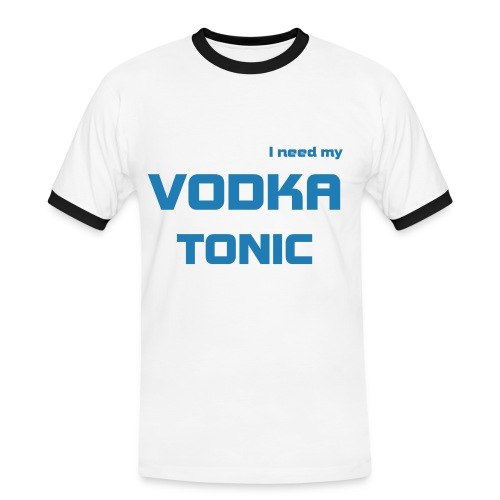 I need my Vodka Tonic - Maglietta Contrast da uomo