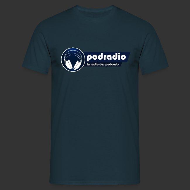 T-shirt homme logo podradio V2 complet