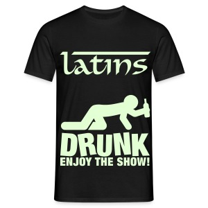 Latins Glow In The Dark Mannen shirt - Mannen T-shirt