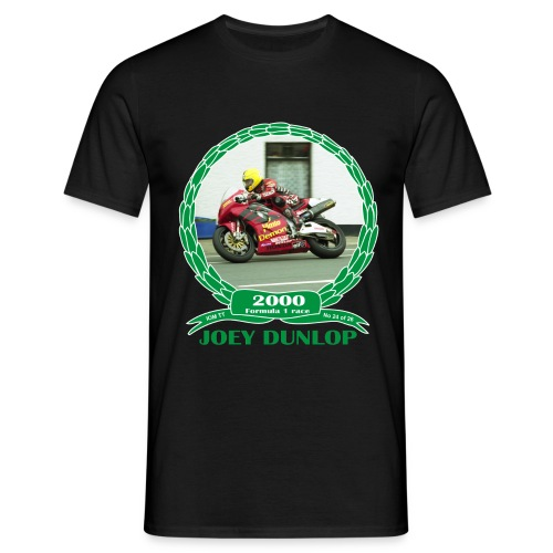 No 24 Joey Dunlop TT 2000 Formula 1 - Men's T-Shirt