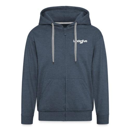 Zipped Hoodie (White Logo) - Men's Premium Hooded Jacket
