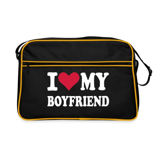 I love my boyfriend väska - Retroväska