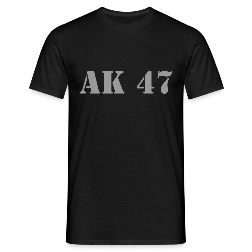 AK 47 Camo Black - T-skjorte for menn