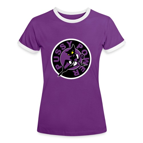 Pussy-T-Shirt - Frauen Kontrast-T-Shirt
