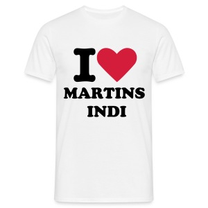 I love Martins Indi  - Mannen T-shirt