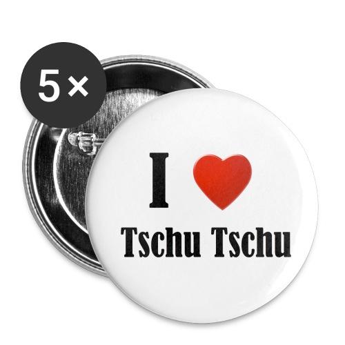 Tschu Tsch Button - Buttons groß 56 mm (5er Pack)
