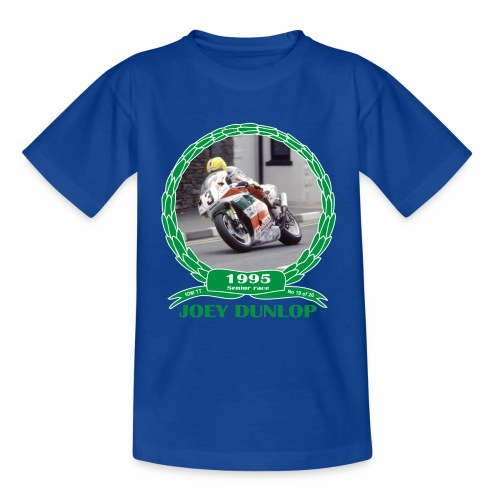 No 19 Joey Dunlop TT 1995 Senior - Kids' T-Shirt