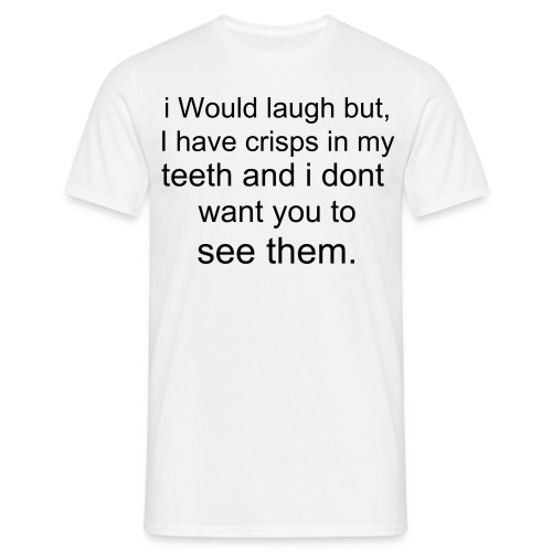 Funny crisps and teeth - Men's T-Shirt