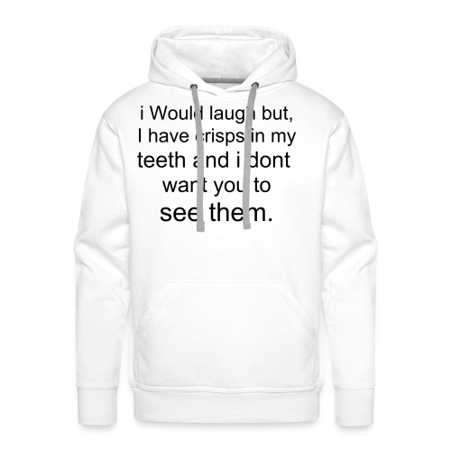 Funny crisps and teeth - Men's Premium Hoodie