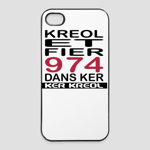 Coque iPhone 4/4S Fier d'etre Kreol - 974 Ker Kreol - Coque rigide iPhone 4/4s