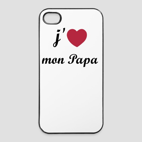 Coque iPhone 4/4S I love Papa - Coque rigide iPhone 4/4s