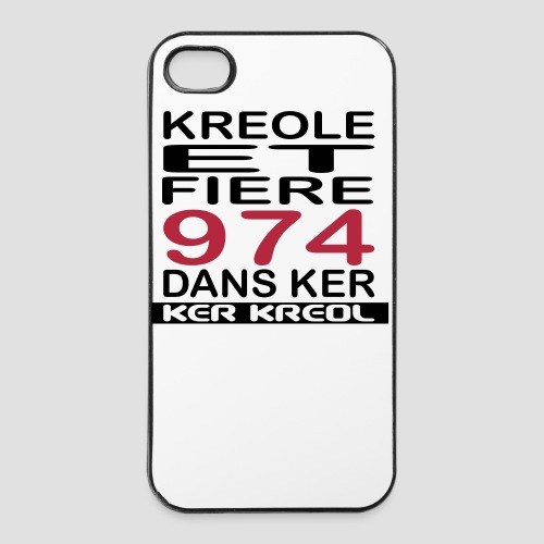 Coque iPhone 4/4S Fiere d'etre Kreoel - 974 Ker Kreol - Coque rigide iPhone 4/4s
