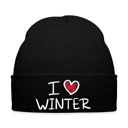 bonnet j'aime l'hiver - Bonnet d'hiver