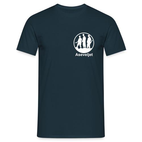 Aseveljet peruspaita - vaalea logo - Miesten t-paita