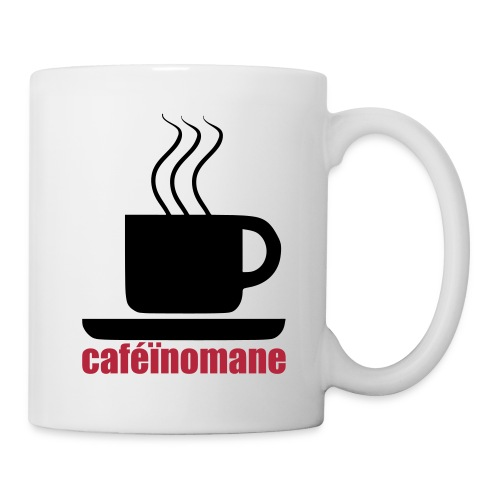 mug caféïnomane - Mug blanc