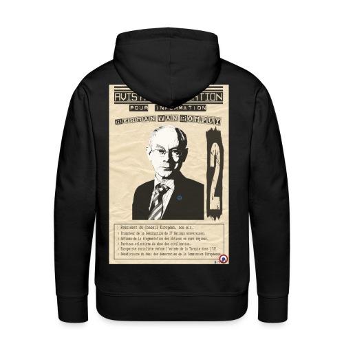 SWEAT à capuche homme van Rompuy (avis à la population) - Sweat-shirt à capuche Premium pour hommes
