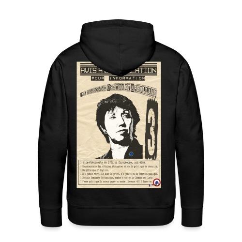 SWEAT à capauche homme lady Ashton (avis à la population) - Sweat-shirt à capuche Premium pour hommes