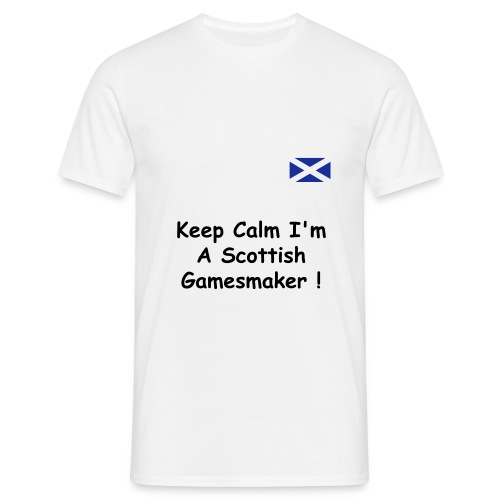 Male Keep Calm T Shirt - Men's T-Shirt