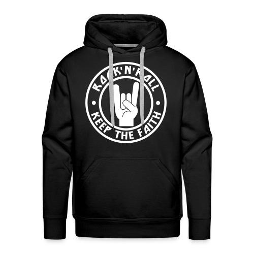 RnR Keep The Faith Black Hoodie - Men's Premium Hoodie