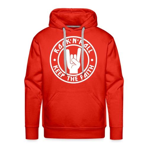 RnR Keep The Faith Red Hoodie - Men's Premium Hoodie