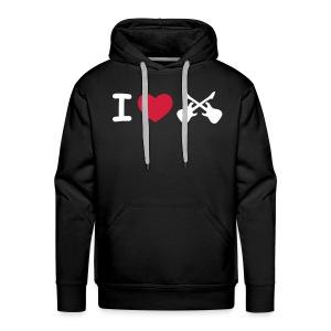 IheartRock_hoodie - Mannen Premium hoodie