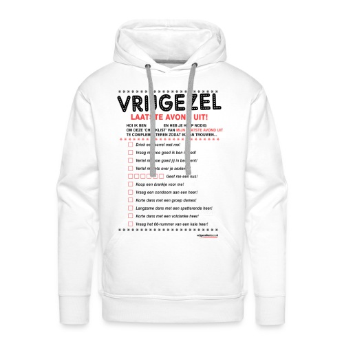 Vrijgezellen Hoodie voor de Man - Mannen Premium hoodie