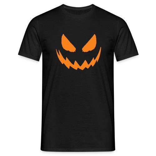 Men's Halloween pumpkin face t shirt.  - Men's T-Shirt
