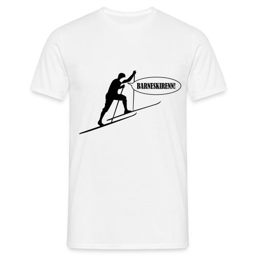 Barneskirenn T-Skjorte Hvit - T-skjorte for menn
