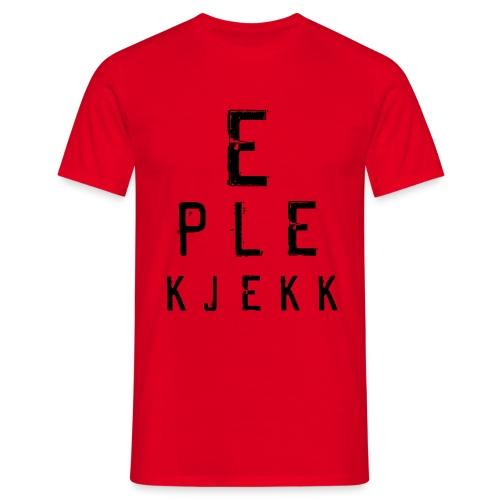 Eplekjekk Synstest Rød - T-skjorte for menn