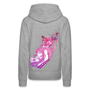 BANG! girl hoodie grey - Frauen Premium Hoodie