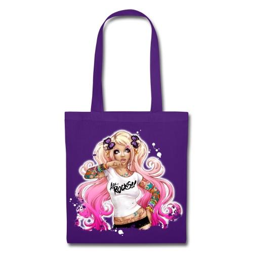 AsuROCKS GIRL Bag Purple - Stoffbeutel