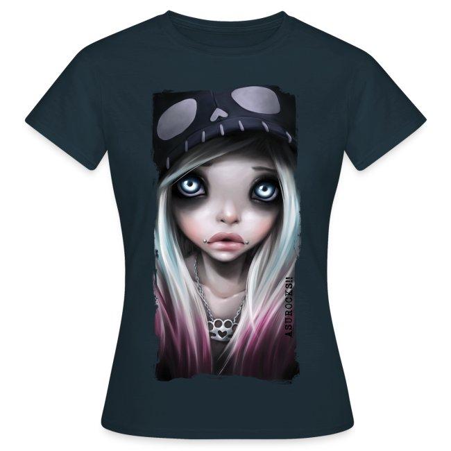 RHONA classic girl shirt navy