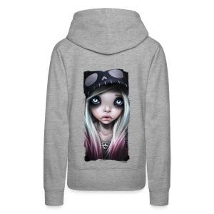 RHONA girl hoodie grey - Frauen Premium Hoodie