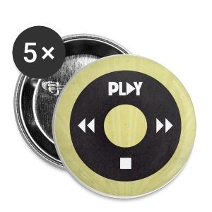 Chapa iPod amarilla - Chapa pequeña 25 mm