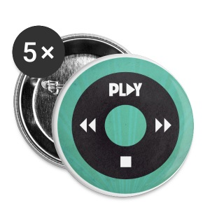 Chapa iPod verde - Chapa pequeña 25 mm
