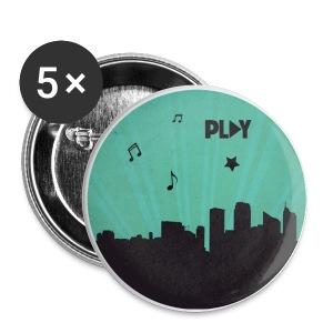 Chapa ciudad Play verde - Chapa pequeña 25 mm