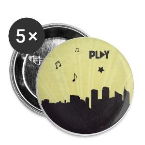 Chapa ciudad Play amarilla - Chapa pequeña 25 mm
