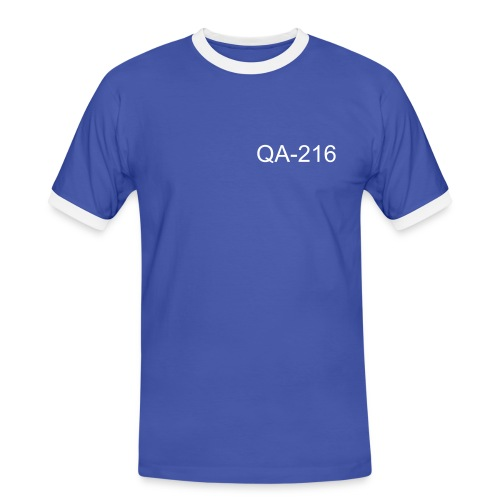 Using spaces as indentation in one text line - Männer Kontrast-T-Shirt