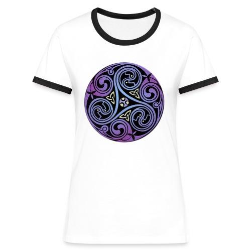 Celtic Spiral #1 - Women's Ringer T-Shirt