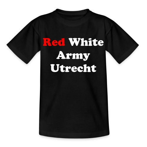 Red White Army T-Shirt - Kinderen T-shirt