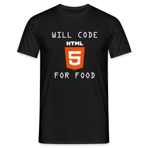 Will code HTML5 for food - Camiseta hombre
