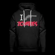 Sudaderas ~ Sudadera con capucha premium para hombre ~ I shot zombies sudadera chico