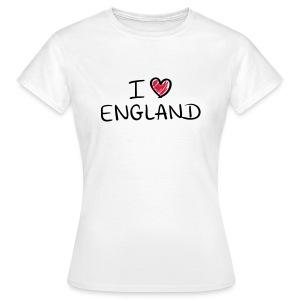I Love England-Female - Women's T-Shirt