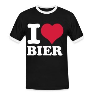 I Love Shirt, Text nach Wahl - Männer Kontrast-T-Shirt