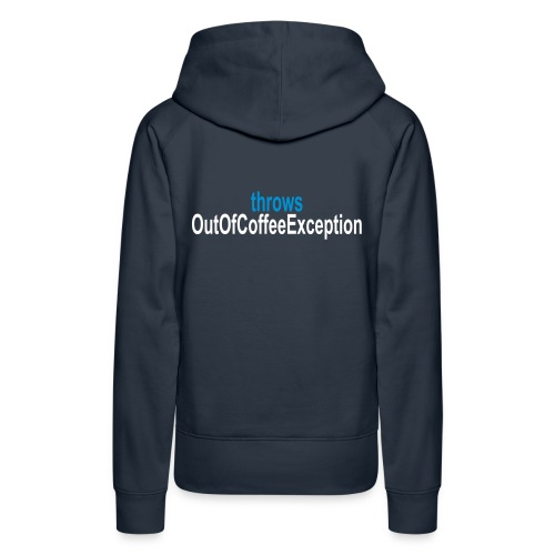 Coffee Exception Frauen Hoodie - Frauen Premium Hoodie