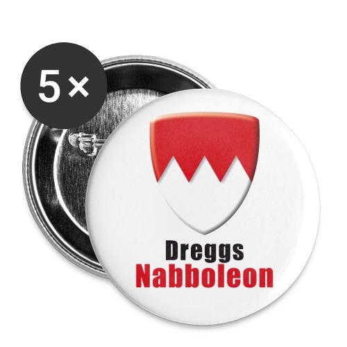 Dreggs Nabboleon Sticker - Buttons groß 56 mm (5er Pack)